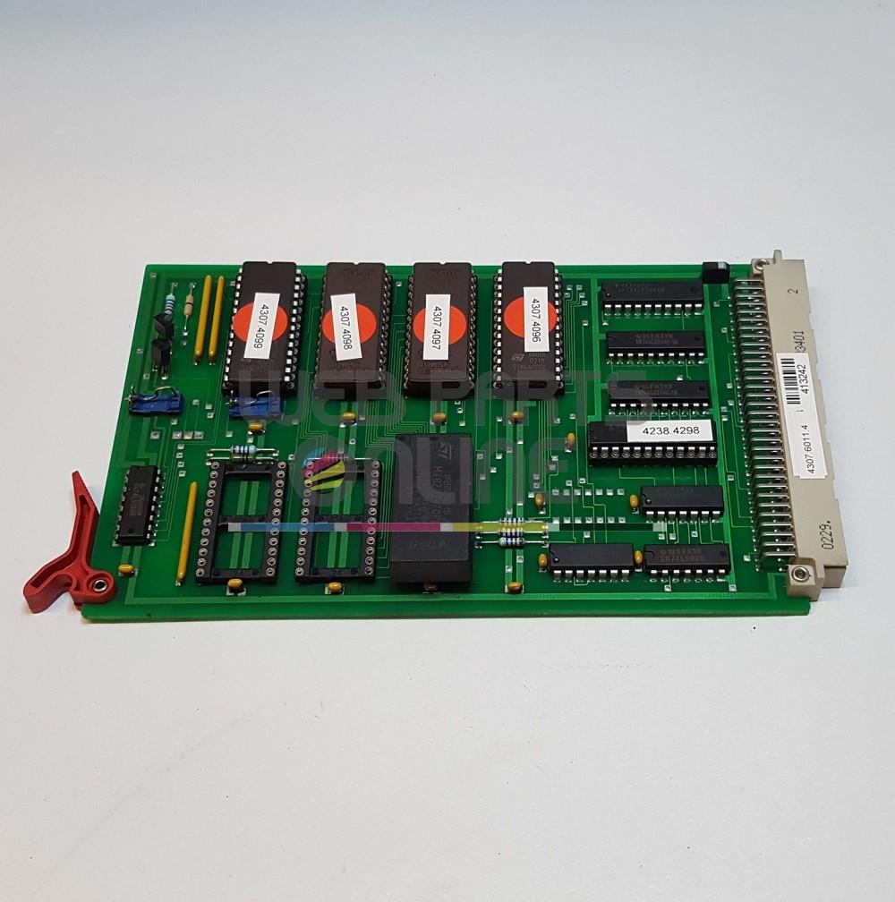 Muller Martini 4307 6011 4 Z80-GCS Program Card